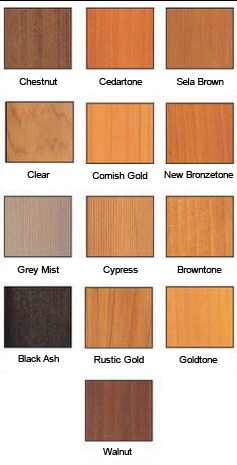 Wood coating colour options